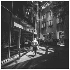 Brisbane street photography - Windows of light (Jaka Pirš Hanžič) Tags: brisbane street photography square australia queensland qld urban person people black white bw monochrome light day daylight daytime midday city walking architecture building skyscraper blackandwhite buildings shadows noiretblanc wideangle downtown