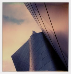 Walt Disney Concert Hall 34 (tobysx70) Tags: the impossible project polaroid slr680 frankenroid sx70 door rollers color film for 600 type cameras beta 30 3 0217 pioneer member test impossaroid walt disney concert hall south grand avenue downtown los angeles la california ca philharmonic phil stainless steel frank gehry architect dtlapolawalk polawalk 061017 toby hancock photography