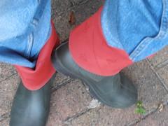 DUNLOP      Purofort   D        do groen  115 (stevelman14) Tags: dunlop purofort donkergroenrood laarzen diepomgeslagenranden poseren schoon outdoor
