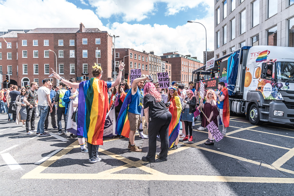 LGBTQ+ PRIDE PARADE 2017 [STEPHENS GREEN BEFORE THE ACTUAL PARADE]-129869