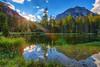 About to Disappear (Fraggle Red) Tags: österreich austria steiermark styria tragöss tragös grünersee mountain mountainrange hochschwab hochschwabgruppe tree trees pfarrerteich lake pond clouds hdr 7exp dphdr canonef1635mmf28liiusm