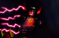 The Speedforce Killer (Andrew Cookston) Tags: lego dc comics theflash flash reverseflash danielwest new 52 n52 francismanapul black red yellow pink purple photoshop christo7108 custom minifig stilllife toy lighting nikon macro photography andrewcookston