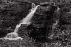 Silver Streams (SunnyDazzled) Tags: waterfalls rain storm day outdoor landscape nature cliffs geology bushkill creek pennsylvania boyscoutcamp rocks bw summer