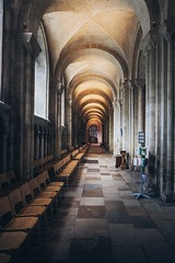 The passage (jpw81) Tags: norwich cathedral church sacred perspective light empty tiles
