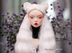 Angelic kitty (pure_embers) Tags: pure laura embers bjd doll dolls england uk girl popovysisters popovy sisters littleowl little owl pureembers embersowl missowl embersmissowl photography photo ball joint resin portrait fine art angelic white kitty wig flowers eclipse21
