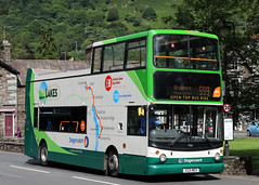 17221 V221 MEV (Cumberland Patriot) Tags: stagecoach north west england in cumbria cms cumberland motor services kendal depot dennis trident alexander alx 400 alx400 open top low floor bus lakes lake district buses selkent south east london and kent ta221 17221 v221mev green lakeland swoops 599 route