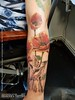 Nature Sleeve in progress (Stefan Beckhusen) Tags: tattoo flowers bird poppies sleeve inprogress heavenstattoo braunschweig niedersachsen germany color