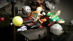 Meteor shower showdown ;) (2nd Life Bricks) Tags: lego space moc rocketman meteorites