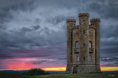 Broadway Tower Sunset 3 of 4 (Geoff Moore UK) Tags: broadway tower evesham worcestershire uk sunset nighttime landscape outdoors outside lines nature path grasses tresses stone wall cotswold