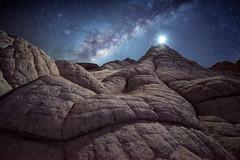 Moonwalk (Ryan_Buchanan) Tags: white pocket arizona milkyway night longexposure stars ryan buchanan exposurescape