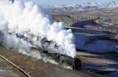 JINGPENG (dayvmac) Tags: jingpeng jitong chinesesteam steam steamlocomotives trains railroads railways bridge winter
