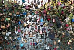 Locked in a Vertical Dimension (Denis Moynihan) Tags: lock locks bridge love graz austria river rail fence distribution pattern space travel