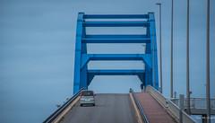 2017 - Japan - Ishigaki - 5 of 11 (Ted's photos - For Me & You) Tags: 2017 cropped ishigaki japan nikon nikond750 nikonfx tedmcgrath tedsphotos vignetting bridge road roadway car railing people peopleandpaths