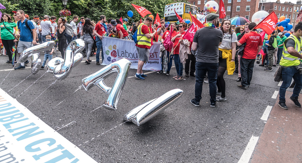 LGBTQ+ PRIDE PARADE 2017 [STEPHENS GREEN BEFORE THE ACTUAL PARADE]-129847