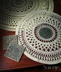 #sonagrigoryan #crochet #polymerclay #doily (sonagrig) Tags: crochet polymerclay doily sonagrigoryan
