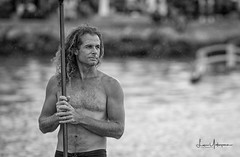 Hokule'a - The Journey Home 10 (JUNEAU BISCUITS) Tags: hokulea paddleboard hawaii oahu honolulu magicisland blackandwhitephotography blackandwhite portrait portraiture paddler