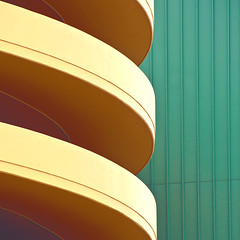 Anchorage abstract (ValterB) Tags: 2009 alaska valterb shadow outdoor outdoors building architecture facadelines abstract tiles geometrical shapes skyscraper lines curves garage curve minimal