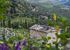 Greece (589).jpg (goodnightstrawberry) Tags: delphi greece greek temple ancient ruins mountains oracle