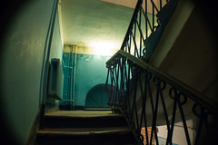 Tower Staircase (ellyoracle77) Tags: minsk belarus geometry architecture bannister soviet staircase hostel