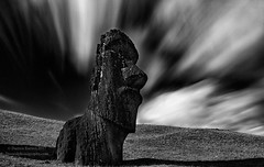 left in place, for all of time (Dwood Photography) Tags: easter island easterisland 2017 chile dwoodphotography dwoodphotographycom moai bw black white blackandwhite statue left place for all time leftinplaceforalloftime rano raraku ranoraraku le long exposure longexposure