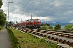 DB BR218 436-4 met IRE 4232 te Lindau, 01-07-17 (Daniël de Ruig) Tags: lindau damm br218 db deutsche bahn ire stuttgart deutschebahn deutschland bayern