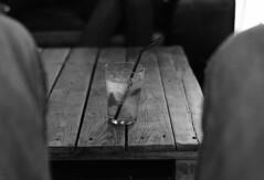 """""""Au Bistrohophop... Regarder Les Choses En Face"""" (The Blue Water Lily's Company) Tags: fdrouet nb bw monochrom monochrome bar bretagne bistrophophop mojito locquirec nikon film"""