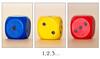 1, 2 et 3 ... (coralie le bian) Tags: triptyque coloré triptych cube proxi un deux trois 1 2 3 minimalist minimaliste closeup dé couleurs color graphics graphique objet object sigma geometric ligne rouge red bleu blue jaune yellow