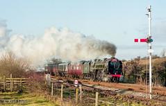 645 71000 Howe & Co 16 Dec 1995 Keith Sanders (Railcam) Tags: railways settlecarlisleline cumbrianmountainexpress 71000 dukeofgloucester steam howeco
