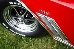 Displacement bump (GmanViz) Tags: gmanviz color car automobile detail nikon d7000 1967 buick gs fender wheel tire chrome badge number 455