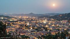 Ascoli e la luna (ambrasimonetti) Tags: ascolipiceno marche italy ascoli e la luna moon landscape panorama torri towers centotorri
