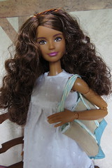3. White Sundress & Tote (Foxy Belle) Tags: handmade sew make recycle doll mtm skipper made move summer outfit craft diy mold