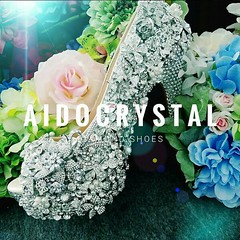 diamond shoes (hw1913vivian) Tags: silver diamonds florals design peep toe sandal wedding shoes bridal handmade rhinestones high heels