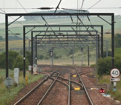 Crossover Into Grantshouse Loop -  ECML (Gilli8888) Tags: scotland grantshouse ecml railway infrastructure overheads rail track linear powerlines countryside berwickshire scottishborders railwayline loop grantshouseloop