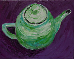 Please Come For Tea (BKHagar *Kim*) Tags: bkhagar art artwork artday painting paint acrylic teapot green purple tea