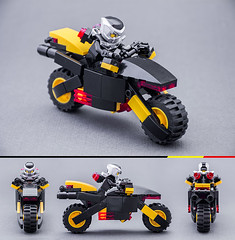 Bike (Milan Sekiz) Tags: lego bike blacktron black yellow red trans