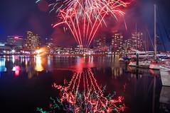 _MG_3119: Winter Firelight Festival at Docklands (Peter ZZZ) Tags: 2017 australia docklands firelightfestival fireworks lighttrails longexposure melbourne nightphotography outdoors reflections water winter