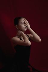 동백 나무 (the side projects by dews) Tags: girl younggirl mood feeling artistic redbackground emotive soul ownmind
