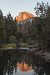 Half Dome from Sentinel Bridge (Ian C Young) Tags: halfdome yosemite reflections mercedriver sunset goldenhour