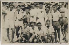 Surf Club members at Brunswick Heads c1940s (RTRL) Tags: byronbay surflifesaving surfclub surflifesavingcarnival