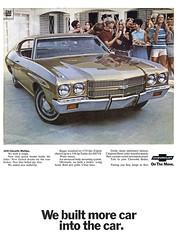 1970 Chevelle Malibu (Tom Simpson) Tags: 1970 1970s chevellemalibu malibu chevrolet chevy vintage ad ads advertising advertisement vintagead vintageads car cars