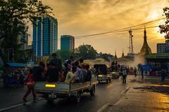 The City Hall Thingyan Celebration (wilsonchong888) Tags: leica leicaxu thingyan yangon burma myanmar streetphotography colour cityhall celebration sunset