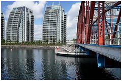 Detroit Bridge (jason_hindle) Tags: manchester unitedkingdom sonya7ii sony28mmf2 detroitbridge nvbuildings salforddocks salfordquays
