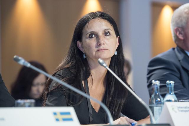 Darja Kocjan attending the Closed Ministerial