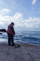 The Fisherman (alep.dove) Tags: manarola 5terre sea fish hobby morning retired