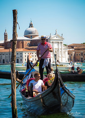 Streets of Venice (Kalev Lait photography) Tags: gondola venice tourism tourist pair couple grandcanal palace water river canal boat rowing gondolier street city people man woman transport travel adventure explore