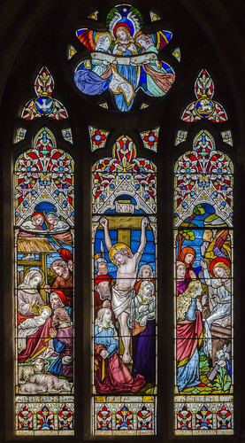 Langton by Wragby, St Giles' church, east window