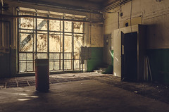 WiMa (Tomasz Aulich) Tags: light sunlight abandoned decay summer colour poland europe łódź wima nikon sigmalens fabric factory oldfactory old vintage oldschool door windows shadows urban urbex explorer exploration barrel rust yellow green pipe cotton architecture stilllife stairs