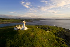 Little Ross lighthouse, Kirkcudbrightshire (iancowe) Tags: littleross little ross lighthouse island rossbay kirkcudbright kirkcudbrightshire solway firth borgue sunrise dawn morning drone dji phantom 4 pro aerial stevenson nlb northernlighthouseboard murder scotland scottish