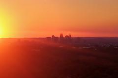 Sunset Landing At BNA (Richard Melton) Tags: aerial sunset nashville skyline tennessee