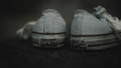 the dirty all stars... (jess feldon photography) Tags: allstars shoes lookslikefilm lowpov challenge 50mm jessfeldon converse trainers dirty
